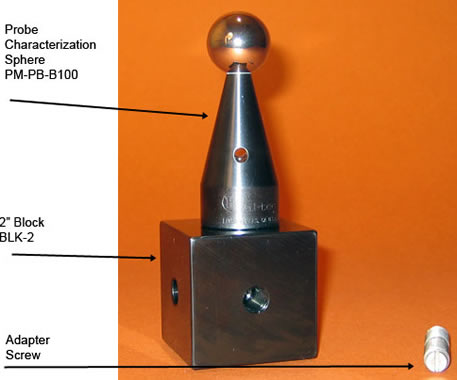 Probe Sphere Mounting Block, 2 inches